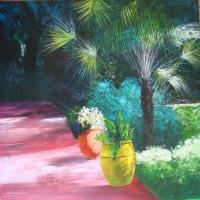 Le petit palmier 70x70